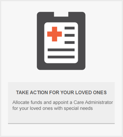 TAKE ACTION FOR YOUR LOVED ONES